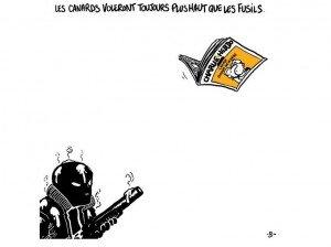 Hommage de Boulet, auteur de bande dessinée français, à Charlie Hebdo